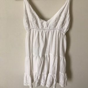 Lulus white babydoll dress size M